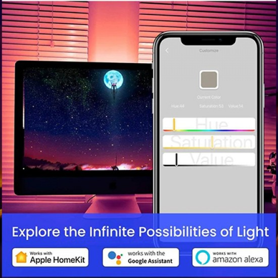 COLOLIGHT LED STRIP LIGHTS (60 LED)