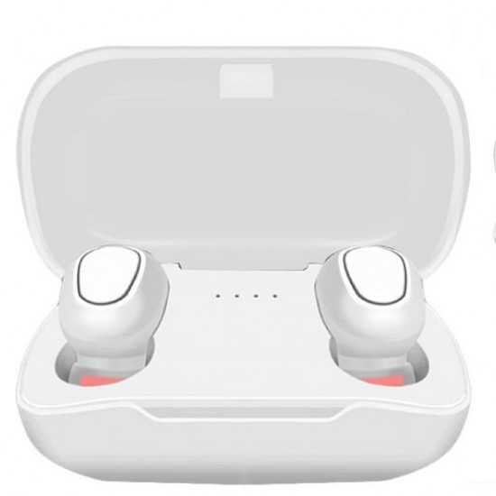 TWS-L21 Wireless Bluetooth 5.0 Earbuds Headset Headphone With Charging Box, White
