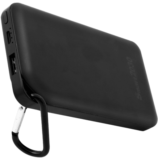 Smart2030 Universal 25,000 mAh Power Bank Single USB Output (P100), Black