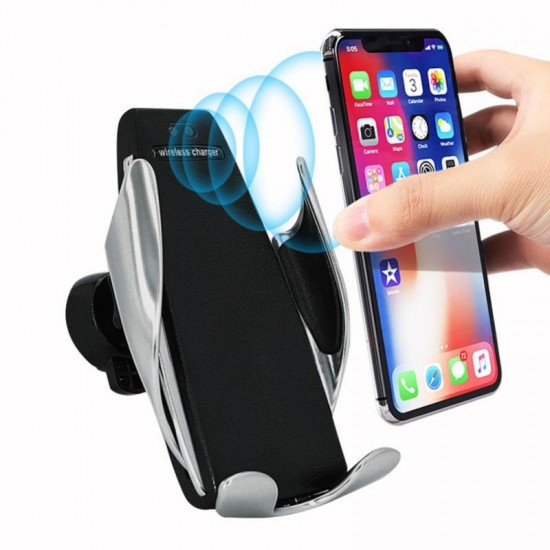 S5 Automatic Clamping Wireless Car Charger with Smart Sensor For iphone