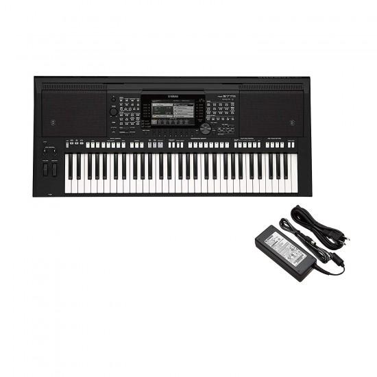 Yamaha portable keyboard PSR-E463 with 61 Keys plus Yamaha PA150 AC with power adapter