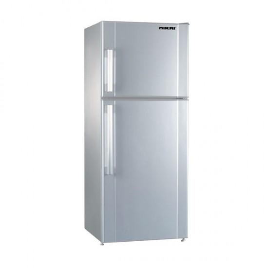 Nikai Double Door Refrigerator 480L Silver - NRF480FN4