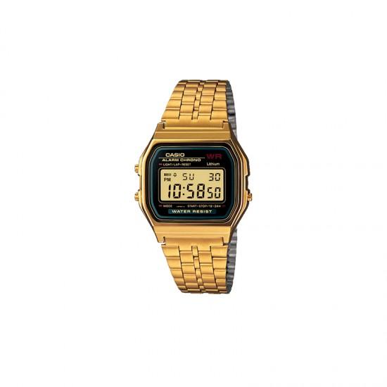 CASIO Men's Water Resistant Stainless Steel Digital Watch A159WG